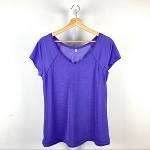 Lululemon Short Sleeve V Neck Tee Top Run Yoga 12
